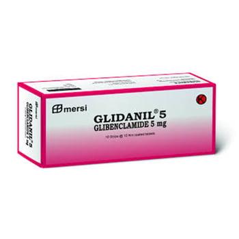 Glidanil tablet adalah obat untuk mengontrol kadar gula darah pada pasien diabetes melitus tipe 2.