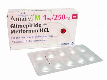 Amaryl M Tablet 1 mg/250 mg  harga terbaik 129649