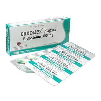Erdomex kapsul adalah obat untuk mengencerkan dahak dan mengobati gangguan saluran pernapasan.