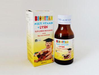 Biovitan sirup 60 ml obat untuk membantu memenuhi kebutuhan vitamin untuk anak-anak