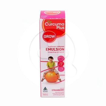 Curcuma Plus Emulsion Grow Rasa Strawberry 200 mL harga terbaik 25992