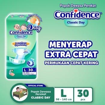 Confidence Popok Dewasa Classic Day L 30 harga terbaik