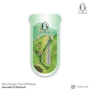 Madame Gie Mini Ready Peel Off Mask Avocado & Oatmeal harga terbaik 3000