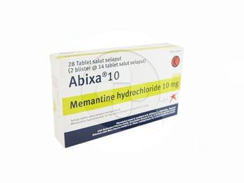 Abixa tablet 10 mg obat untuk pengobatan penurunan daya ingat (demensia) pasien Alzheimer sedang sampai berat.