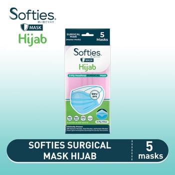 Softies Surgical Mask Hijab 5s harga terbaik