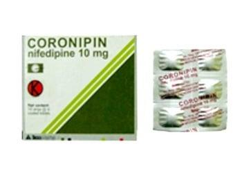 Coronipin tablet adalah obat untuk menurunkan tekanan darah (hipertensi),
