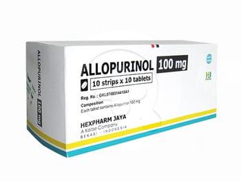 Allopurinol Hexpharm Tablet 100 mg (1 Strip @ 10 Tablet)