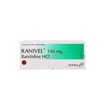 Ranivel Tablet adalah obat yang mengandung  ranitidine 150 mg.