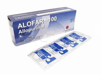 Alofar kaplet 100 mg untuk mengobati asam urat.