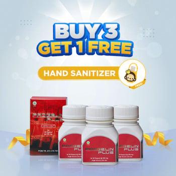 Herbamed Paket 3 Produk Gratis 1 Sanitizer Herbal Asam Urat Progelin Plus harga terbaik 240000