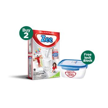 Buy 2 Zee Platinum Vanilla Delight 350 g - Free Lock & Lock harga terbaik 112000