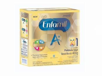 Susu Enfamil A+ 1 Usia 0-6 Bulan 400 g