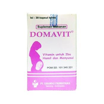 Domavit kapsul digunakan sebagai vitamin untuk ibu hamil dan menyusui.