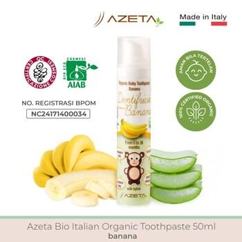 Azeta Bio Italian Organic Toothpaste/Pasta Gigi Bayi 50 ml - Banana harga terbaik 135000