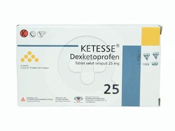 Ketesse tablet adalah obat yang digunakan sebagai pereda nyeri ringan hingga sedang