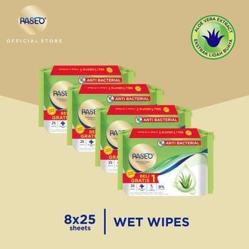 Paseo Tissue Basah Anti Bacterial 25 Sheets  harga terbaik 40000