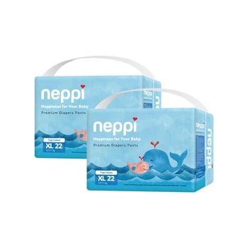 Neppi Premium Baby Diaper Pants XL 22 - Twinpack harga terbaik 133800