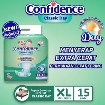 Confidence Popok Dewasa Classic Day XL 15 harga terbaik 90900
