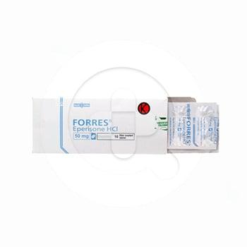 Forres tablet adalah obat untuk mengobati gangguan fungsi sendi, ligamen, otot, saraf dan tendon