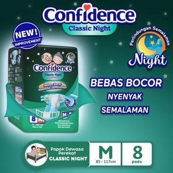 Confidence Popok Dewasa Classic Night M 8 harga terbaik 46000