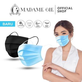 Madame Gie Safety You Face Mask Box - Masker Kesehatan - Biru Muda (50 Pcs)