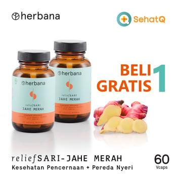 BUY 1 GET 1 Herbana Relief Sari Jahe Merah - 60 Kapsul harga terbaik 150000