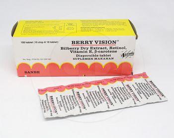 Berry Vision Tablet Anak Dispersible Pink  harga terbaik 36080