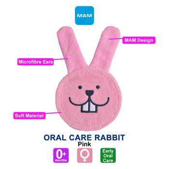 MAM Oral Care Rabbit Rabitt 0+ Months - Pink harga terbaik 112123