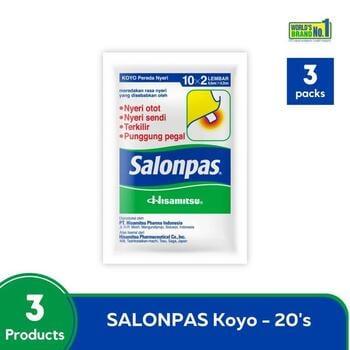 Salonpas Multipack - Koyo Pereda Nyeri isi 20 harga terbaik 39600