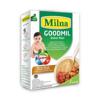 Milna Goodmil Bubur Khusus Beras Merah Semur Ayam 8+ - 120 g harga terbaik
