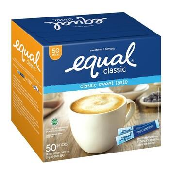 Equal Classic Sweetener - Pemanis Buatan 50 Sticks harga terbaik 35000