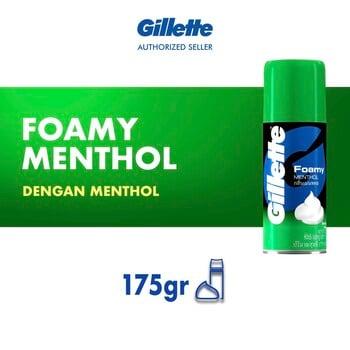 Gillette Shaving Foam Menthol 175 g harga terbaik 35900