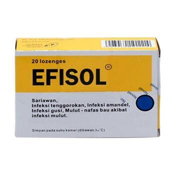 Efisol C tablet hisap untuk infeksi ringan sampai sedang jamur dan bakteri pada mulut.