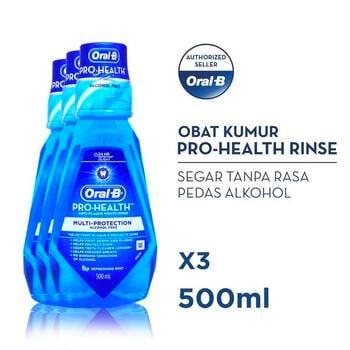 Oral-B Rinse Pro Health 500 ml - Paket isi 3 harga terbaik 126000