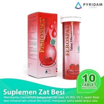 Ferospat Tablet Effervescent (1 Tube @ 10 Tablet Effervescent) - Suplemen Zat Besi