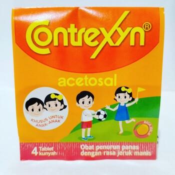 Contrexyn tablet adalah obat untuk menurunkan demam pada anak.