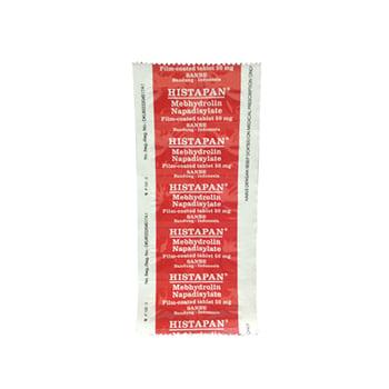 Histapan Tablet adalah obat untuk mengatasi reaksi alergi.