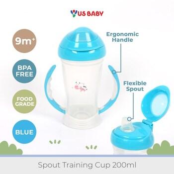 US Baby Spout Training Cup 200 ml - Blue harga terbaik 89000