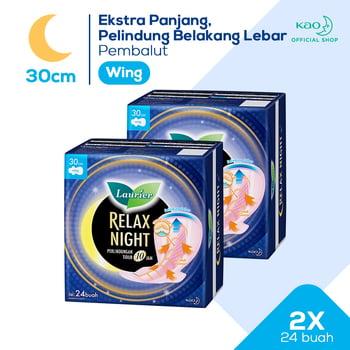 Laurier Relax Night 30 cm 24S Twinpack harga terbaik 38900