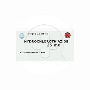 Hydrochlorothiazide Tablet 25 mg (1 Strip @ 10 tablet)