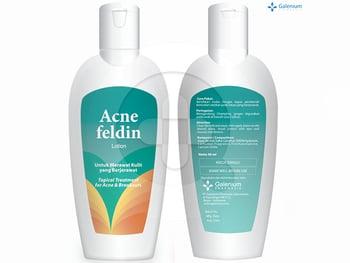 Acne Feldin lotion digunakan untuk mengobati jerawat.