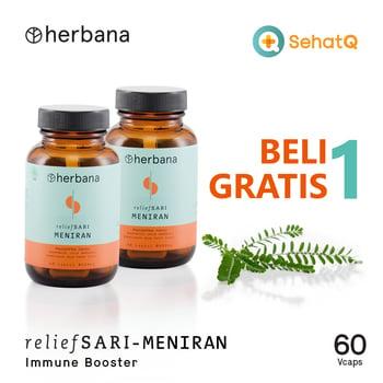 BUY 1 GET 1 Herbana Relief Sari Meniran - 60 Kapsul harga terbaik 91000