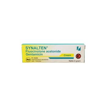Synalten krim 5 g untuk meringankan inflamasi dari dermatosis yang responsif terhadap kortikosteroid.
