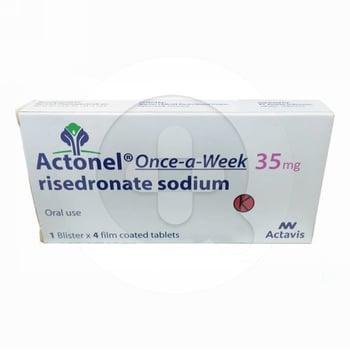 Actonel tablet adalah obat untuk mengatasi dan mencegah terjadinya pengeroposan tulang.