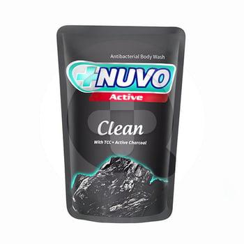 sabun Nuvo Liquid Body Soap Active Clean Pouch 250 ml