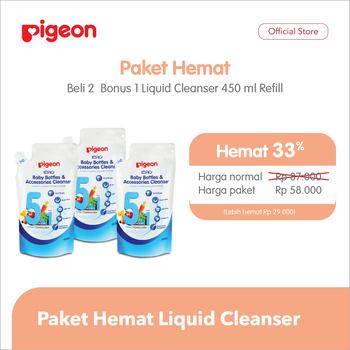 Buy 2 Pigeon Liquid Cleanser Basic 450 ml Refill - Free LCB 450 ml Refill harga terbaik