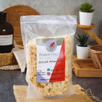 Francis Organic Natural Sliced Almond/Almond Slice 250 g harga terbaik 40000