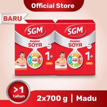 Paket 2 - SGM Eksplor SOYA Susu Pertumbuhan 1-5 Tahun Madu 700 g harga terbaik