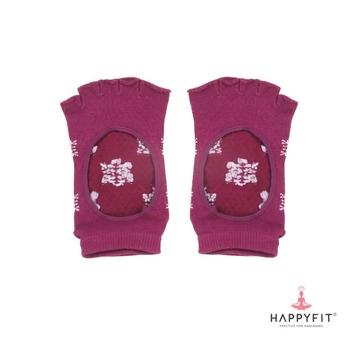 Happyfit Yoga Socks Open Finger With Flower - Purple harga terbaik 80000