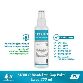 Sterilo Disinfektan Spray 230 ml Siap Pakai - Broad Spectrum Multi-purpose Surface Disinfectant harga terbaik